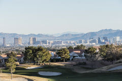 Voisinage de Summerlin de Las Vegas Nevada Photographie stock libre de droits
