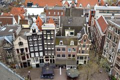Voisinage de ville d'Amsterdam Photos libres de droits