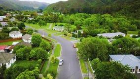 Voisinage 4k aérien du Nouvelle-Zélande banque de vidéos