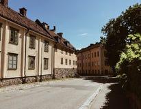 Voisinage résidentiel à Stockholm, Suède photographie stock