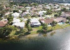 Voisinages de Watefront en Floride photo stock