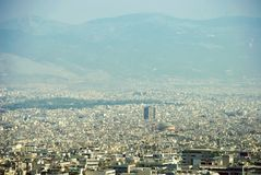 Voisinages et métropole urbains Athènes Grèce de bâtiments image libre de droits