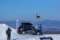 Voita Bresky, esquiador checo Foto de archivo