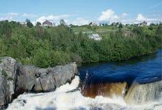 Voitsky Padun waterfall, Karelia region, Russia Stock Images
