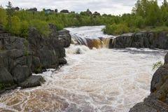Voitsky Padun waterfall on Lower Vyg river Stock Images