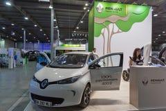 Voiture électrique de Renault Zoe sur l'exposition 2017 embrochable de Kiev Ukraine Image libre de droits