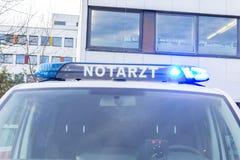 Voiture allemande de notarzt de docteur de secours Image libre de droits