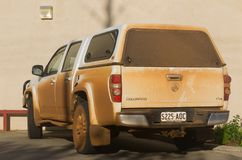 Voiture australienne couverte en poussière photos stock