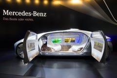 Voiture autonome de concept de Mercedes Benz Photos stock