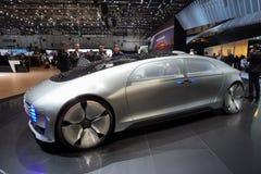 Voiture autonome de concept de Mercedes Benz Images libres de droits