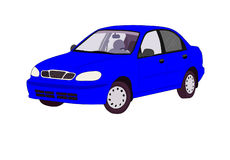 Voiture bleue. Images stock