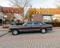 Voiture blindée de luxe de Mercedes-Benz S Klass Photo libre de droits