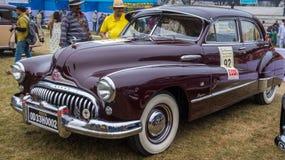 Voiture Buick huit 1958 de vintage sur l'affichage au rassemblement de voiture de vintage d'homme d'état images libres de droits