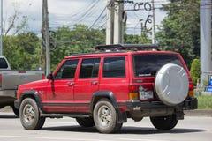 Voiture cherokee privée de la jeep 4X4 Photo libre de droits