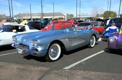 Voiture classique : Convertible 1958 de Chevrolet Corvette Image libre de droits