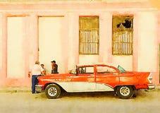 Voiture classique de cru à La Havane illustration libre de droits