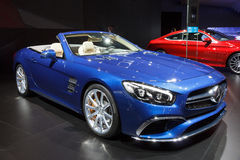 2016 voiture convertible de roadster d'AMG SL65 Photos libres de droits