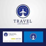 Voiture créative de logo et d'affaires de drapeau de cercle d'Union européenne de voyage illustration stock