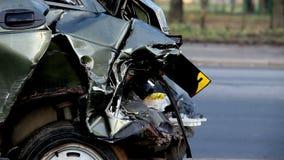 voiture d'accident banque de vidéos