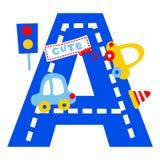 Voiture d'alphabet de vecteur illustration stock