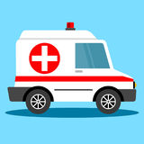 Voiture d'ambulance d'illustration de vecteur illustration stock