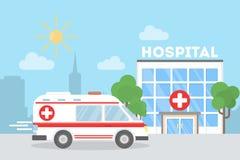 Voiture d'ambulance dans la ville illustration libre de droits