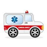 Voiture d'ambulance de bande dessinée illustration libre de droits