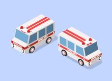 Voiture d'ambulance isom?trique illustration de vecteur