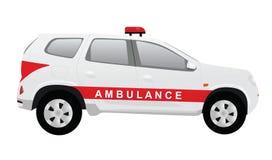 Voiture d'ambulance, vue de côté illustration stock