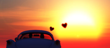 voiture d'amour Image stock