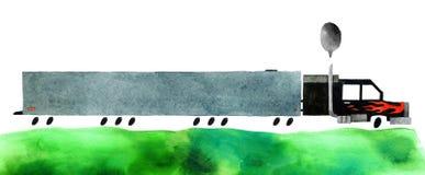 Voiture d'aquarelle illustration stock