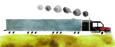 Voiture d'aquarelle illustration libre de droits