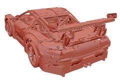 voiture d'argile du jouet 3D Images libres de droits