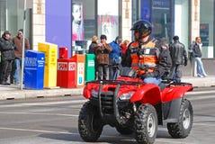 Voiture d'ATV dans le défilé Ottawa, Canada de jour du ` s de St Patrick Photo stock