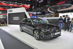 Voiture d'Audi A6 Avant sur l'affichage à la trente-cinquième expo internationale de moteur de la Thaïlande le 28 novembre images libres de droits