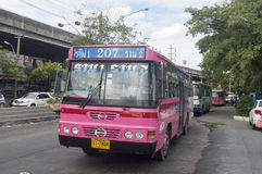 Voiture d'autobus de 207 Bangkok Photographie stock libre de droits