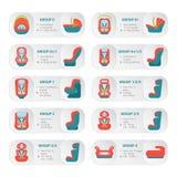 Voiture de bébé Seat Infographics sur un fond blanc Illustration de vecteur Photographie stock libre de droits