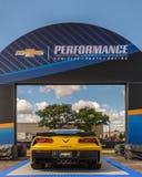 2016 voiture de Chevrolet Corvette, croisière rêveuse de Woodward, MI Image stock