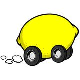 Voiture de citron illustration stock