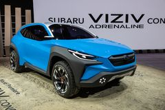 Voiture de concept d'adrénaline de Subaru Viziv photographie stock libre de droits