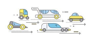 Voiture de concept du futur transport routier illustration libre de droits