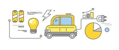 Voiture de concept du futur transport routier Photos libres de droits