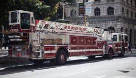 Voiture de corps de sapeurs-pompiers Image libre de droits
