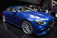 Voiture 2019 de coupé de Mercedes AMG GT 4-Door Photographie stock