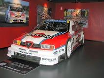 Voiture de course d'Alfa Romeo, exhibée au Musée National des voitures Photo stock
