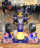 Voiture de course d'Infiniti Red Bull Images libres de droits