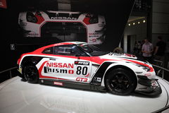 Voiture de course de Nissan GT3 Nismo Photos stock