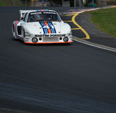 Voiture de course de Porsche 935-77 Martini le Mans Photos libres de droits