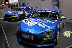 Voiture de course de Subaru BRZ Photos libres de droits