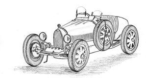 Voiture de course de vintage Image stock